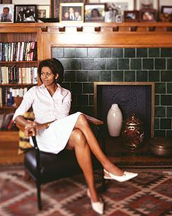 Michelle Obama di rumahnya
